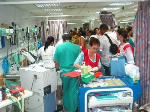 Codes really do basically look like this - room packed full of people taking care of the patient.