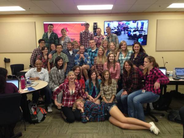 Flannel Fridays plus the huge ITV behind us ;D