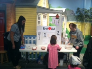 children's museum first aid stand