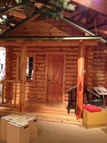 A sample log house