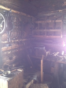 Blacksmith's log cabin.