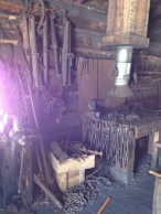 Blacksmith's tools and oven.