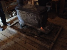 A fireplace in every log cabin for heat.