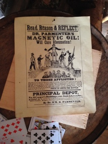 Dr.Parmenter's Magnetic Oil! Will cure rheumatism.
