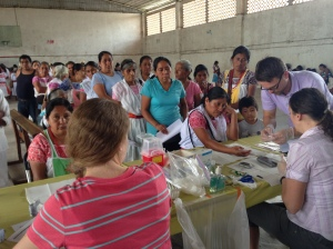 The clinic we saw over 200 patients. The temperature was approximately 100F.
