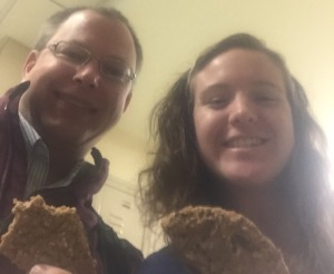 My classmate Todd and I enjoying our cookies after class!